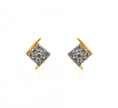 18kt Gold Diamond Earrings ( Diamond Earrings )