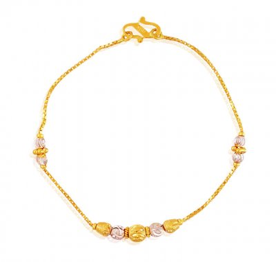 2 Tone Gold Bracelet 22k