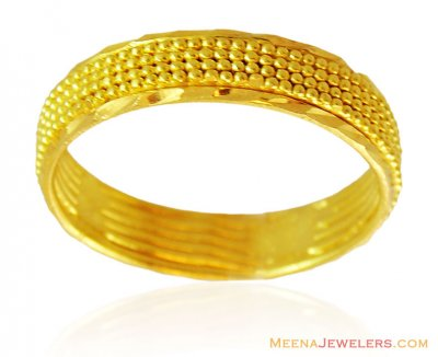 22k Fancy Solid Gold Band ( Wedding Bands )