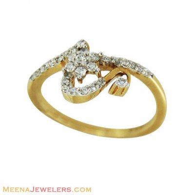 18k Floral Fancy Diamond Ring ( Diamond Rings )