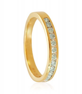 18K Gold Diamond Band ( Diamond Rings )