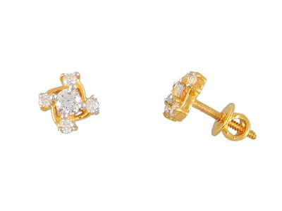 22kt Gold Fancy Earring ( Signity Earrings )
