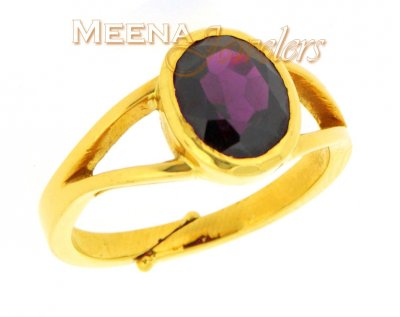 22kt Gold Birthstone Ring with garnet ( Astrological BirthStone Rings )