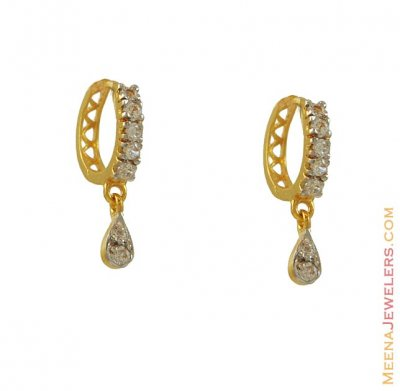 22k Fancy Clip On Earring  ( Clip On Earrings )