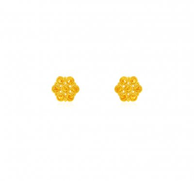 22 kt Gold Earrings ( 22 Kt Gold Tops )