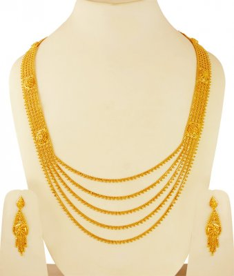 22k Yellow Gold Long Patta Haar ( Bridal Necklace Sets )