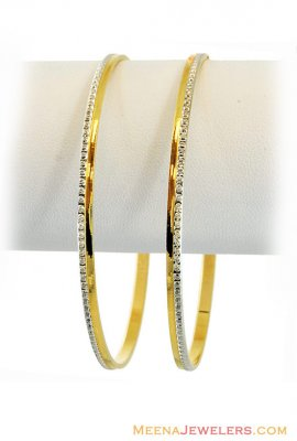 22k Fancy Two Tone Bangles ( Two Tone Bangles )