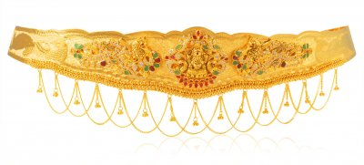 22Karat Gold Peacock Kamar Patta ( Gold Waist Belt )