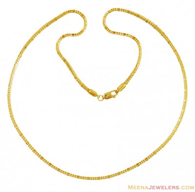 Gold Chain In 22K (18 Inches) ( Plain Gold Chains )