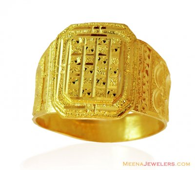 Mens Fancy Gold Ring (22 Karat) ( Mens Gold Ring )