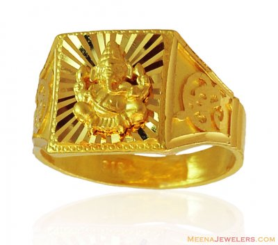22k Gold Ganesha Ring ( Religious Rings )