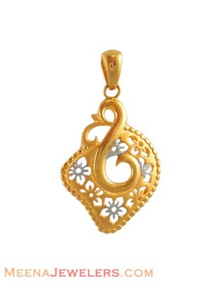 Fancy two tone pendant ( Fancy Pendants )
