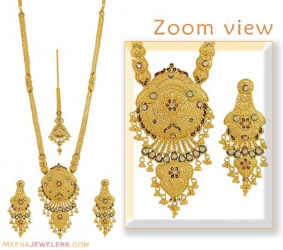 Necklace, Earrings and Tikka Set ( Bridal Necklace Sets )