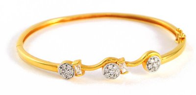 22k Signity Gold Bangle ( Stone Bangles )