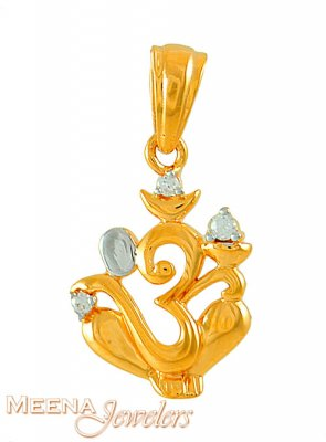 22k Lord ganesh and OM combination pendant ( Ganesh, Laxmi and other God Pendants )