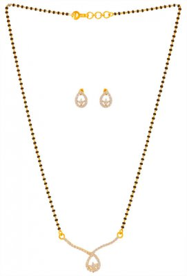 22 kt Gold MangalSutra and Earrings ( MangalSutras )