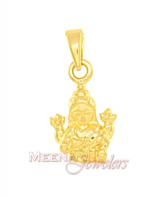 22Kt Gold Goddess Laxmi Pendant ( Ganesh, Laxmi and other God Pendants )