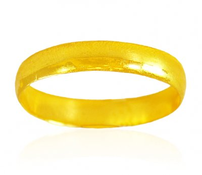 22K Gold Band (Unisex) ( Wedding Bands )