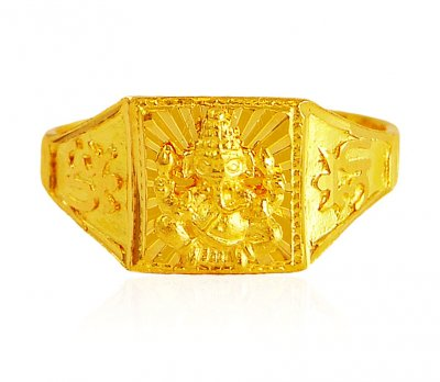 22Kt Gold Mens Ring ( Religious Rings )