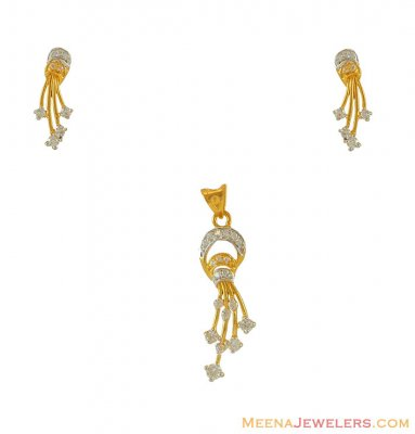 Two Tone Pendant Set(22k) ( Fancy Pendant Set )