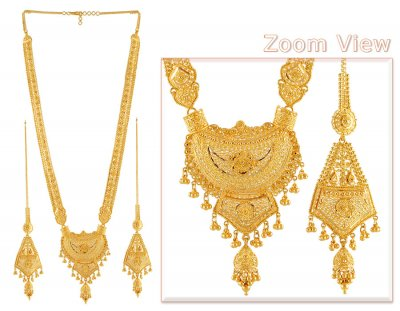 22k Gold Indian Bridal Patta Set ( Bridal Necklace Sets )