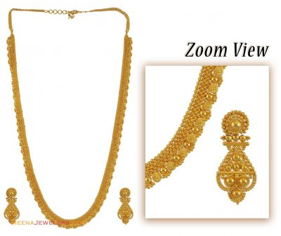 22k Long Chain Earring Set ( Bridal Necklace Sets )
