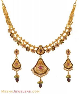 Gold Antique Designer Necklace