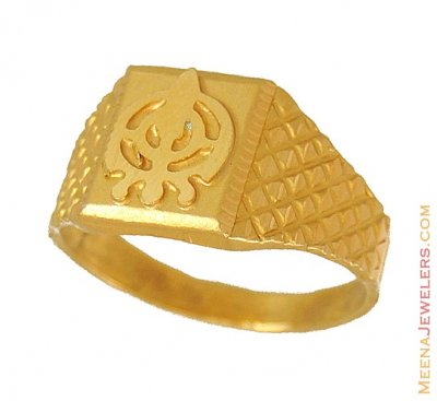 22Kt Gold Khanda Ring ( Religious Rings )
