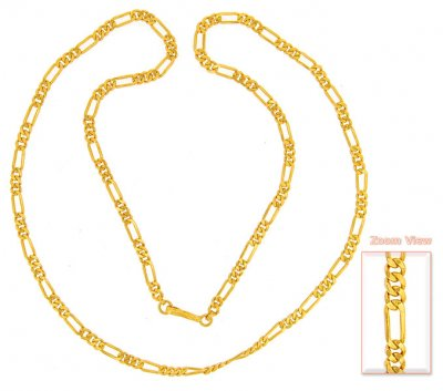 22K Gold Fancy Chain ( Men`s Gold Chains )