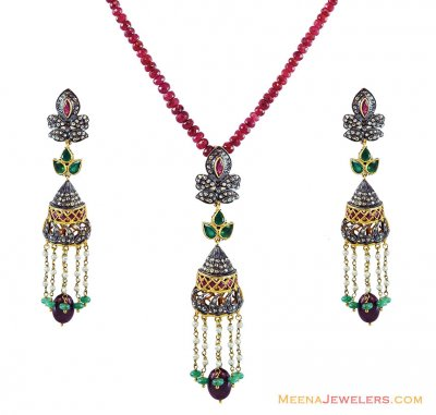 Victorian Chandelier Pendant Set ( Diamond Victorian Jewelry )