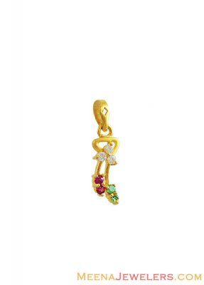 22Karat Gold CZ Studded Pendant ( Fancy Pendants )