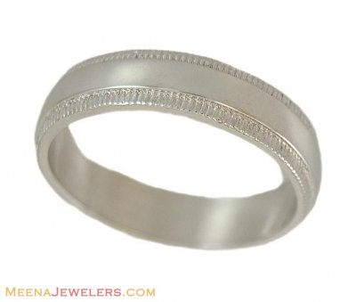 Indian Gold Band (18K white) ( Wedding Bands )