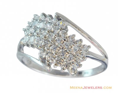 Exclusive White Gold 18K Ring ( Ladies White Gold Rings )