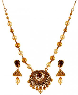22Karat Gold Antique Set ( Antique Necklace Sets )