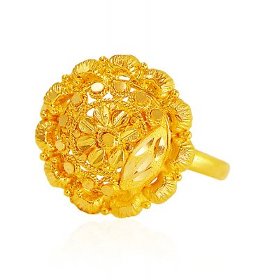 22 Karat Gold Filigree Ring  ( Ladies Gold Ring )