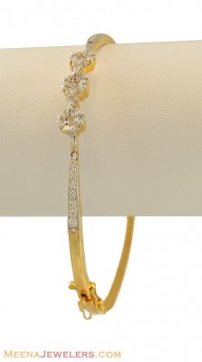 Diamond Bangle (18K Gold) ( Diamond Bracelets )