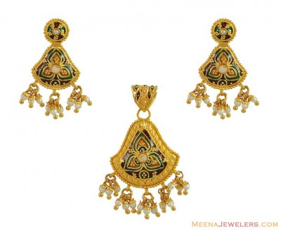 Indian Gold Pendant Set ( Gold Pendant Sets )