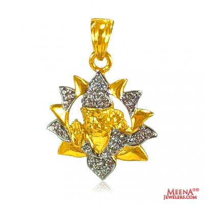 22 Kt Gold Sainath Pendant ( Ganesh, Laxmi and other God Pendants )