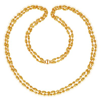 22Kt Gold White layered Tulsi chain ( 22Kt Long Chains (Ladies) )