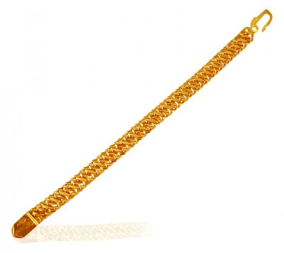 22 Kt Gold Mountain Bracelet ( Men`s Bracelets )