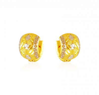 22k Gold Two Tone Clipons ( Clip On Earrings )
