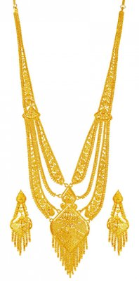 22k Gold Long necklace Set  ( 22 Kt Gold Sets )