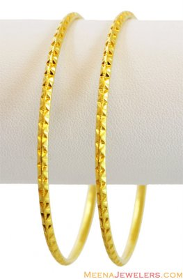 Simple Machine Bangles 22k  ( Gold Bangles )