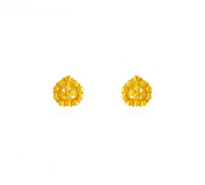 22k Baby Earrings ( 22 Kt Gold Tops )