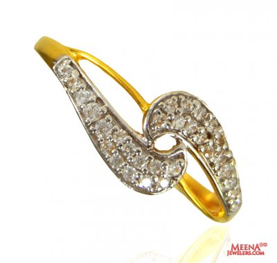 22 Kt Gold Signity Ring ( Ladies Signity Rings )