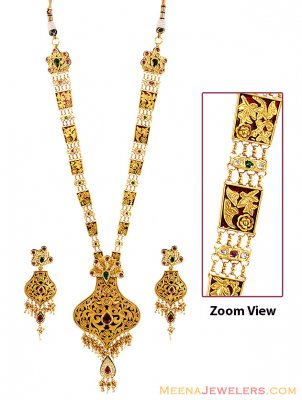 22k Designer Long Patta Set ( Bridal Necklace Sets )