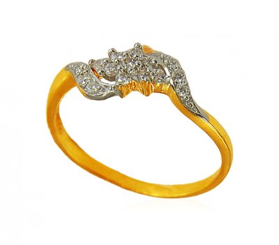 22K Gold Beautiful Signity Ring ( Ladies Signity Rings )