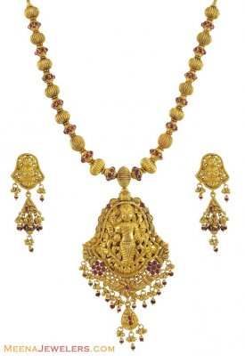 22K Temple Jewelry (Antique) ( Antique Necklace Sets )