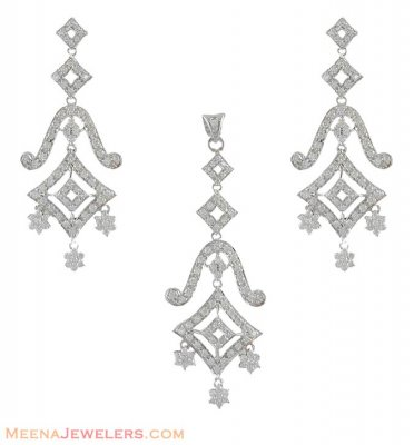 White Gold Pendant Set ( White Gold Pendant Sets )