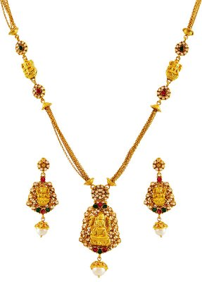 Gold Temple Jewelry Necklace Set ( Antique Necklace Sets )